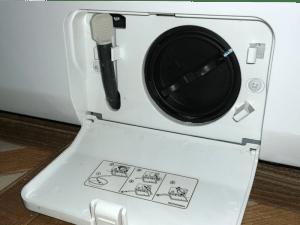 washer water filter access door